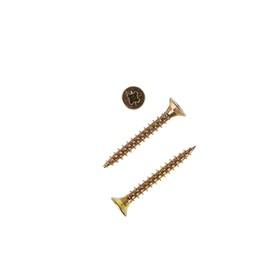 Саморезы универсальные TECH-KREP, ШУж, 3х25 мм, жёлтый цинк, потай, 25000 шт.