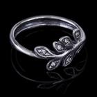 """Кольцо """"Лаэлия"""", размер 18, цвет белый в чернёном серебре"""