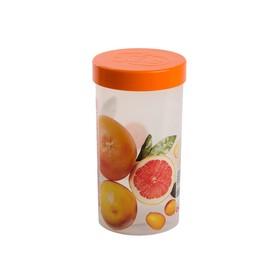 Емкость для хранения Oursson 1 л, 9,5 × 9,5 × 18 см, оранжевая