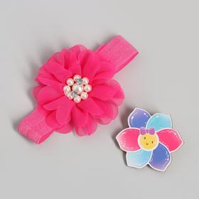 "Accessories for girls ""Miss sunshine"" headband +pin"