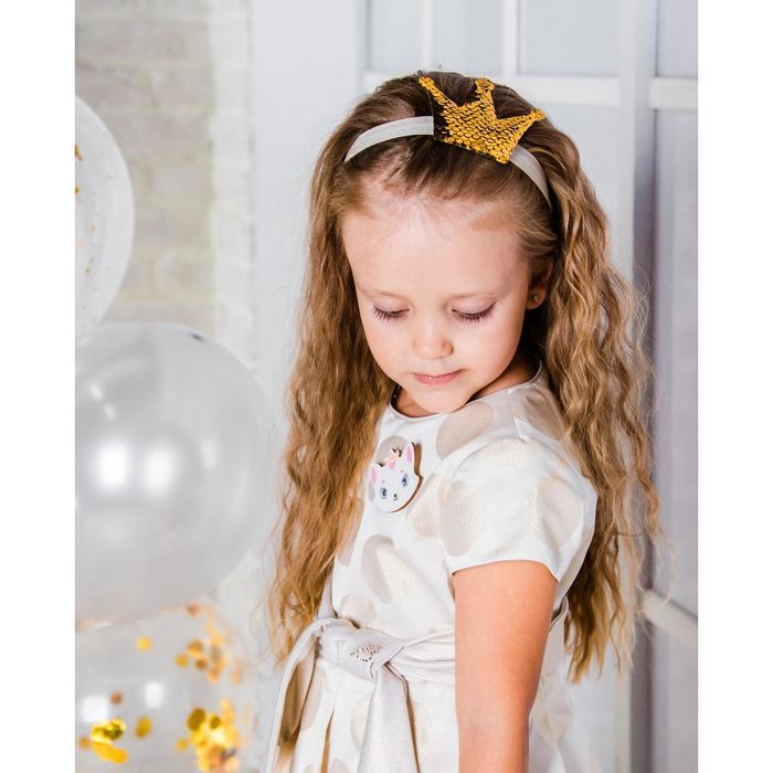 """Карнавальный костюм """"Мисс улыбка"""" повязка на голову + брошка"""