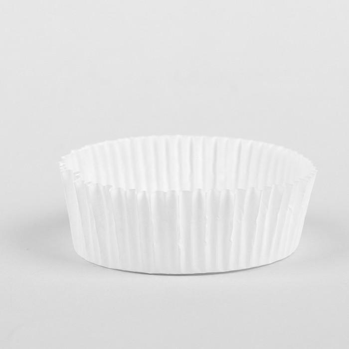 Тарталетка белая, 7 х 2,5 см - фото 165779005