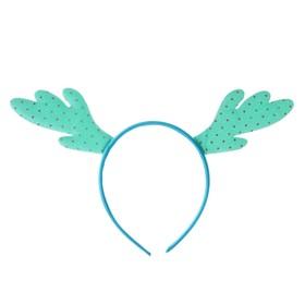 Карнавальный ободок «Рога», цвета МИКС