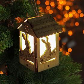 Декор с подсветкой «Праздничный зайчик»