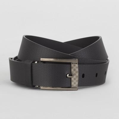 Men's belt, metal buckle, width 3 cm, color black