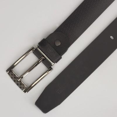 Ремень мужской, пряжка металл, ширина - 3 см, цвет чёрный