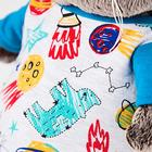Мягкая игрушка «Басик» в футболке космос и в шапочке, 19 см - фото 105615769