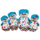 Мягкая игрушка «Басик» в футболке космос и в шапочке, 19 см - фото 105615771