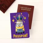 """Обложка для паспорта """"Королевский"""", Гадкий Я"""