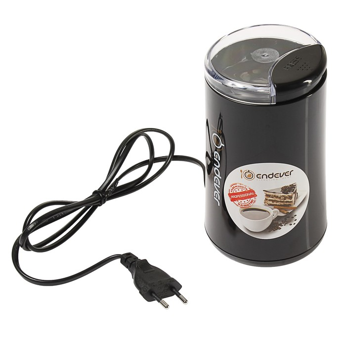 Кофемолка Endever Costa-1054, электрическая, 250 Вт, 100 г, чёрная