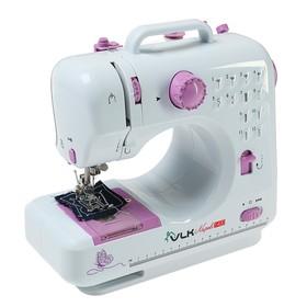 Швейная машина VLK Napoli 1400, 12 операций, 4хАА/от сети, бело-розовая