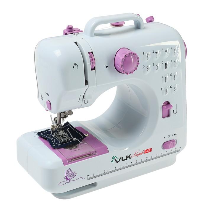 Швейная машина VLK Napoli 1400, 12 операций, питание от батареек АА или адаптер 6 В,