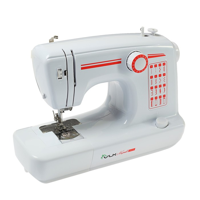 Швейная машина VLK Napoli 2600, 16 операций, адаптер питания 12 В, белая