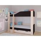 Детская двухъярусная кровать «Астра 2», цвет дуб молочный/венге