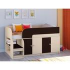 Детская кровать-чердак «Астра 9 V2», цвет дуб молочный/венге