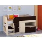 Детская кровать-чердак «Астра 9 V4», цвет дуб молочный/венге