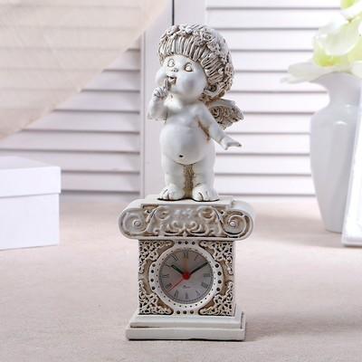 """Часы настольные """"Ангел"""", цвет белый,  h=25.5 см"""