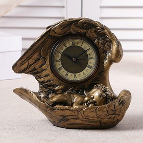 """Table clock """"Sleeping angel"""", the color gold, h=25.5 cm"""