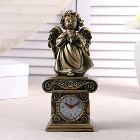 """Часы настольные """"Ангел со звездочкой"""", цвет золото, h=25.5 см"""