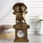 """Table clock """"Angels under the umbrella"""" of the color gold, h=26 cm mix"""