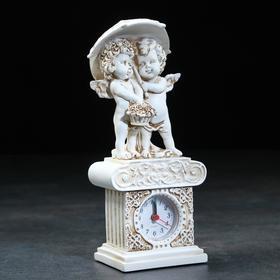 "Часы настольные ""Ангелы под зонтом"", h=26 см"