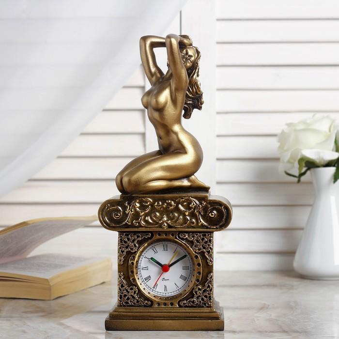 "Часы настольные ""Эвтерпа"", цвет золото, 26х11.5х7.5 см микс"