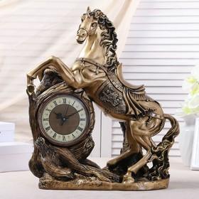 """Часы настольные """"Конь"""", цвет золото, 55х48х22 см, микс"""