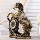 """Часы настольные """"Конь"""", цвет золото, 55х48х22 см, микс - фото 923359"""