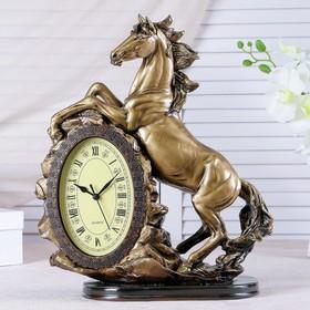 """Часы настольные """"Лошадь"""", цвет золото, 40х31х15 см"""