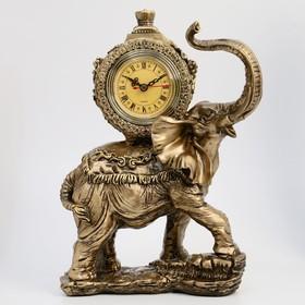 """Часы настольные """"Слон"""", цвет  бронзовый, 35х22х10 см"""