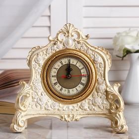 """Часы настольные """"Каминные"""",  цвет слоновой кости, 21х19х6.5 см  микс"""