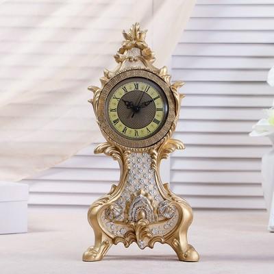 """Часы настольные """"Рококо"""", цвет бежевый перламутр, 38х17.5х10 см"""