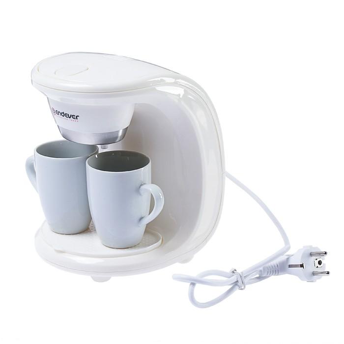 Кофеварка Endever Costa-1040, капельная, 550 Вт, 0.3 л, белая