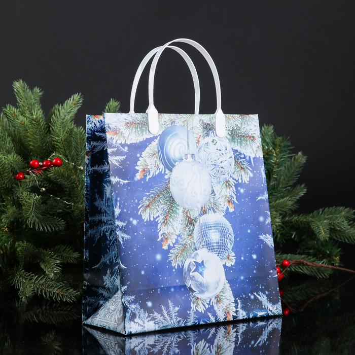 """Пакет """"Новогоднее чудо"""", мягкий пластик, 26х23 см, 120 мкм"""