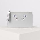 Purse women's, division zipper, card, color gray
