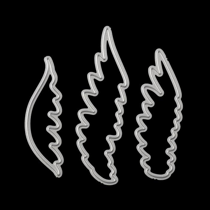 "Нож для вырубки ""На крыльях"" (набор 3 шт) 5,4х1,5, 5,8х1,9 и 7х2 см"