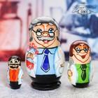 """Matryoshka doll 3 """"Chemist"""" 10 cm"""