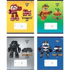 Тетрадь 18 листoв линейка Robot Trains, обложка мелованный картон, микс