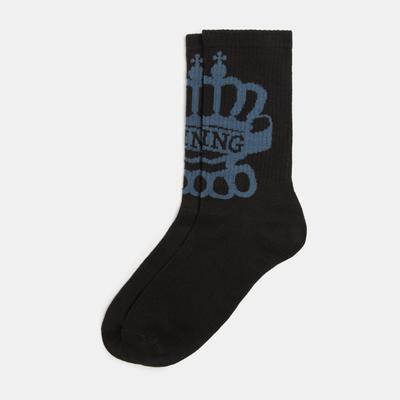 "Socks mens ""King"" R-R 41-44 (27-29 cm), black, 80% CL.,15% p/a, 5% El."