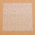 Ацетатный лист «Белые звезды», 30,5 × 30,5 см