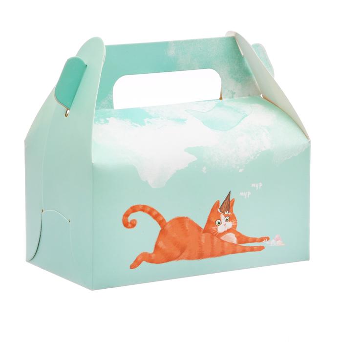 Сундук для сладостей «Котик», 16 × 15 × 9 см