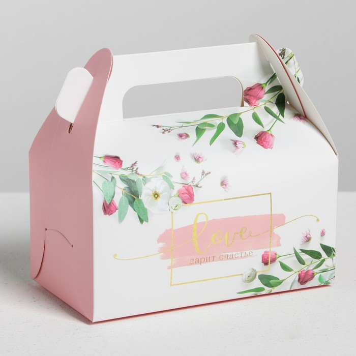 Сундук для сладостей «Любовь дарит счастье», 16 × 15 × 9 см
