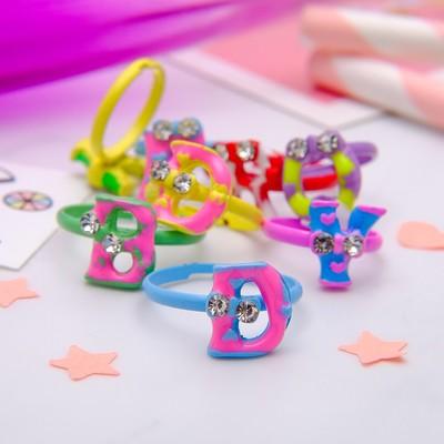 "Ring baby ""Vibracula"" the English alphabet, MIX color"