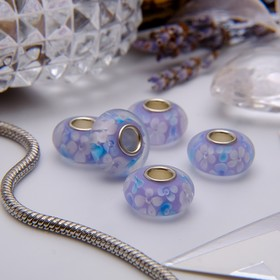 """Bead """"Cherry"""", color white-lilac silver"""