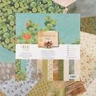 "Набор бумаги для скрапбукинга ""Бабушкин сад"" (14 листов) 30.5х30.5 см, 250 гр/м2"