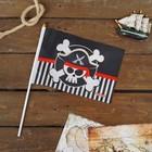 "Флаг пирата ""Пират"" настольный 14х21см"