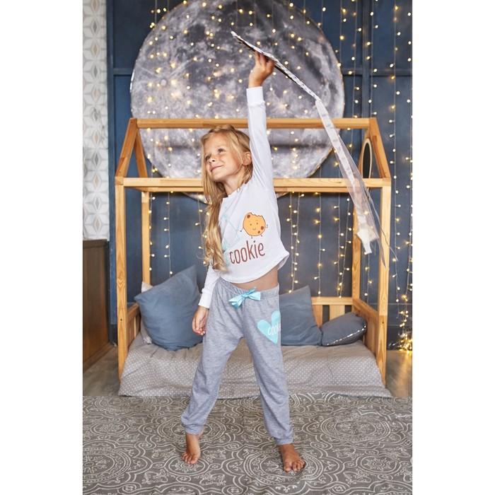 """Пижама для девочки (брюки и джемпер) """"Друзья"""", р-р 30 (98-104 см) 3-4 г, 95% хл, 5% эл - фото 76223662"""