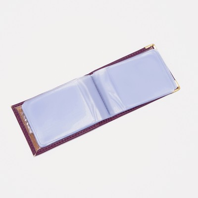 Визитница горизонтальная, 1 ряд, 22 картхолдера, цвет фиолетовый