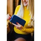 Кошелёк женский, 3 отдела на молниях, с ручкой, цвет синий - фото 55509