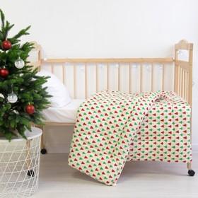 Одеяло «Этель» Ёлочка, 110×140 см, 100% хлопок, фланель